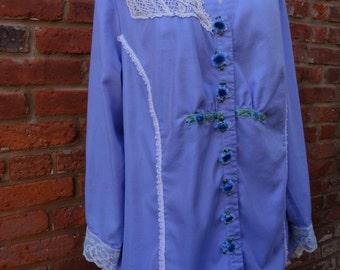 Romantic Shirt,Boho Shirt,Cottage Chic Shirt,Eco Shirt,Nine Muses Of Crete