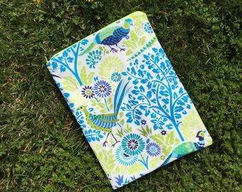 """Travel wet bag 10""""x13"""" Perfectly Peacock- optional strap available"""