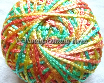 Viscose yarn Silk melange, Rayon. Lace Yarn. Viscose Silk, hypoallergenic. Summer yarn in pinks and blues. Koprina melangue.