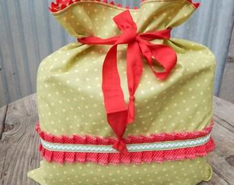 Reusable Gift Bag, Reusable Cloth Christmas Bag
