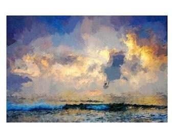 Sea Waves Painting Print- Free Shipping