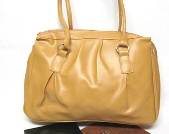 Vintage Butterscotch Yellow Oversized Hobo Large Satchel Handbag