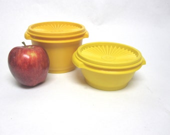 Yellow Tupperware Container Bowls Set Of Two With Lids