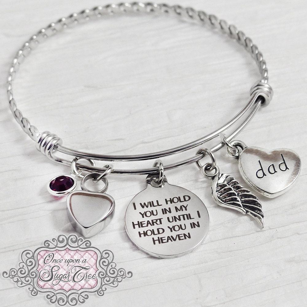 Urn bracelet cremation bracelet loss of dad bracelet for Father daughter cremation jewelry