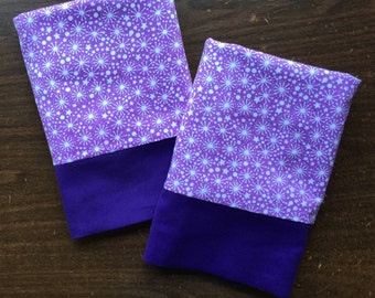 Set of Lavender Pillow Cases in 100% cotton flannel standard or queen