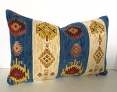 Turkish Chenille Pillow Cover in Upholstery Weight Fabric - Both Sides