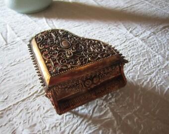 Piano Box Jewelry Casket Trinket Box Storage Vintage Music Decor