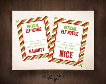 Official Elf Notice Printables