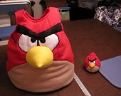 Yellow Angry Bird toddler costume with headbands for supergirl