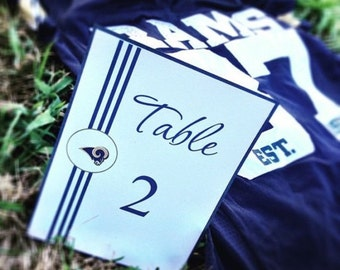 NFL Inspired Table Number - Football Wedding
