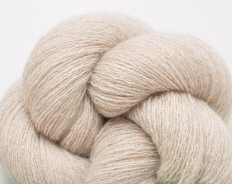 Light Heather Khaki Cashmere Lace Weight Yarn, CSH00124
