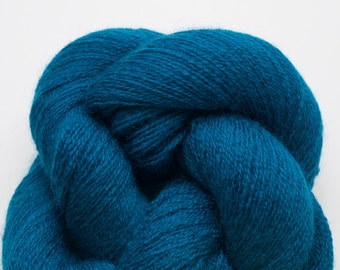 Deep Teal Recycled Merino Lace Weight Yarn, 2173 Yards Available