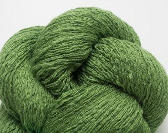 Garden Green Silk Cashmere Lace Weight Recycled Yarn, SCH00104