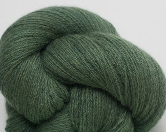 Blue Grass Recycled Lace Weight Cashmere Yarn, Green Cashmere Yarn, 908 Yards Available