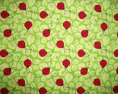 Lady Bug Fabric By The Yard Patty Reed Charms Collection Sewing Fabric Red Green Fabric