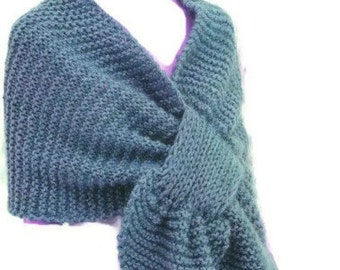 Knit Stole, Shoulder wrap, Shawl Pattern, Easy Knitting PDF Pattern  Is not a finished product. It is a PDF Pattern