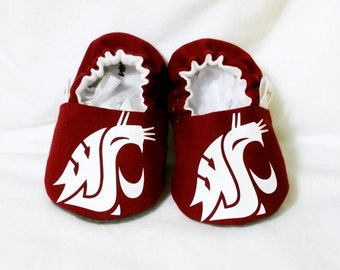 WSU Baby Booties - Cougars - from 0-18 Months