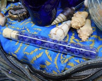Cobalt Blue Glass Pony Beads