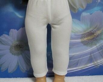 Fits 18 Inch American Girl Doll .... White Leggings ... D233