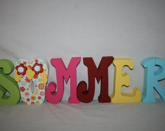 Summer wood letters, Summer home decor, Summer wood sign, Summer sign, Wood letters, Wood sign, Flip flops, Flip flop sign, Flip flop decor