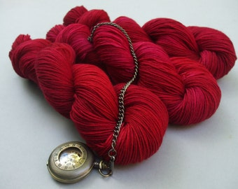 British Born and Bred 4 ply Sock Yarn. Rose Red