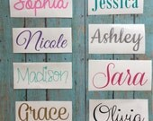 Personalized Vinyl Name Decal - Wedding Party Gifts - Any Name Decal - Any Word Decal - Custom Vinyl Decal - Name Decal - Vinyl Name Decal