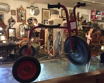 60s. All Original RED RED RED Handcrafted Mastercraft Usa Child Groovy Tricycle
