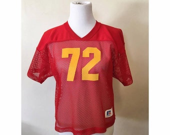 Red Mesh Football Jersey