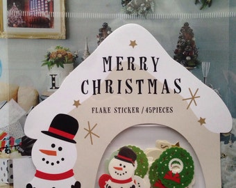 SALE SALE NEW 45 small sticker flakes Christmas A
