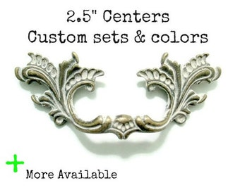 "1 French Provincial Drawer Pull - 2.5"" centers - ornate furniture handles"