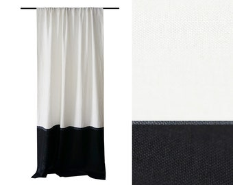 Items Similar To Ready To Hang Drapery Panel Flowers White On Etsy