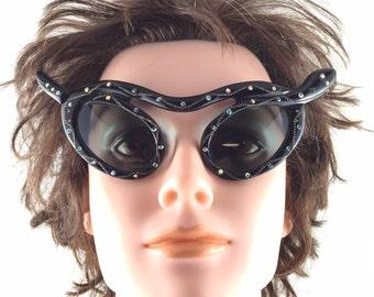 Rare Paulette Guinet Snake Sunglasses. Serpent Sunglasses. Made in France 1950No.001994