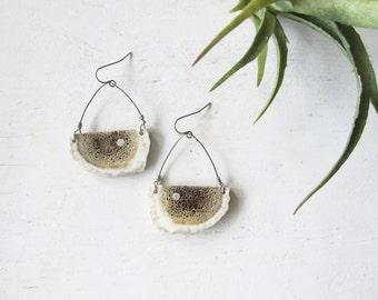 Elk Antler Horn Earrings-THICKET- Rustic Minimal Bohemian Jewelry