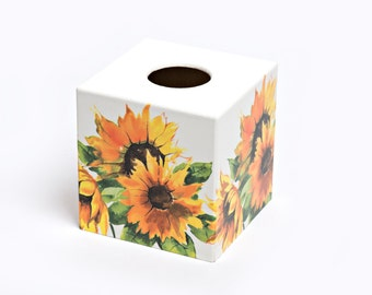 Sunflower Tissue Box Cover wooden perfect in homes/ hotels