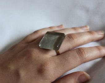 acrylic grey tile ring