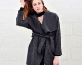 Wool Jacket- wrap Jacket -Gray