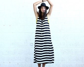 Summer Sale SALE!Striped Maxi dress, Black