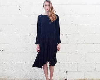 Final Summer Sale Raw Edge Dress, Black