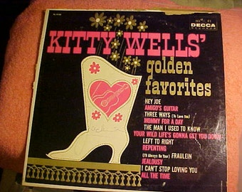 Kitty Wells Golden Favorites c and w DL 4108 Vintage 60s Vinyl LP record Western