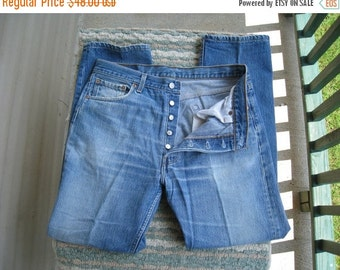 "Levi's 501 XX Vintage Button Fly Jeans / Well Broken In / 34"" Waist X 31"" Inseam / Classic Jeans / Made In USA"