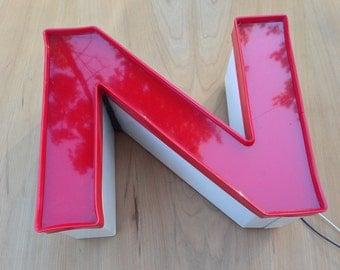 N - Reclaimed vintage letter - excellent