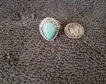Turquoise ring in .925 sterling silver size 7