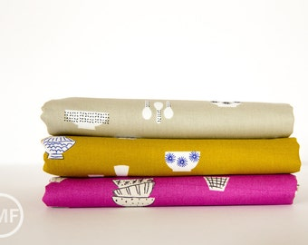 Zephyr Fragile Fat Quarter Bundle, 3 Pieces, Rashida Coleman Hale, Cotton+Steel, RJR Fabrics, 100% Cotton Fabric, 1920