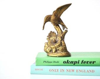 Vintage Brass Hummingbird Figurine