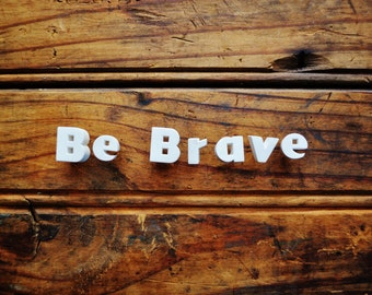 Be Brave - Vintage Ceramic Push Pins