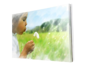 Your Custom Photo Turned to Artistic Rendering and Printed on Canvas!
