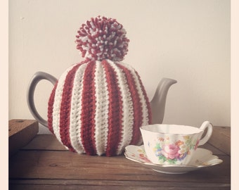 The Retro, vintage style traditionalTea cosy. With or without pom pom. Uk seller