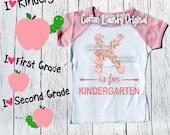 Back to School Shirt; K is for Kindergarten Shirt; Baby and Children's Back to School Tee; Kindergarten Shirt; First Day of School Shirt