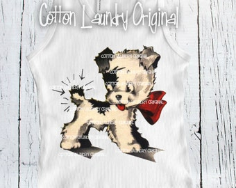 National Doggie Day SALE on our tank tee shirt Puppy/kewpie dog...