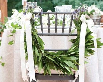 Wedding and Christmas Leaf SWAGS, WREATHS, CANDLE Wraps for weddings and events